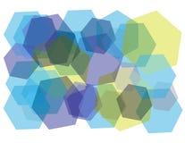 Hexagon-geometrisches Muster Lizenzfreie Stockfotografie