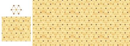 Hexagon gouden sterchocolade schittert naadloos patroon stock illustratie