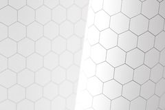 Hexagon graphs Stock Photos