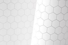 Hexagon graphs Stock Photos