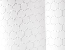 Hexagon graphs Royalty Free Stock Image