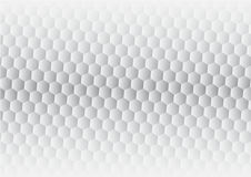 Hexagon gray abstract background vector.  Stock Image