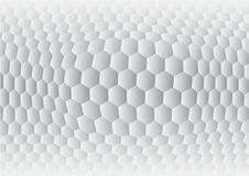 Hexagon gray and white abstract background vector.  Stock Photo