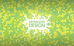 Hexagon green background. Colorful mosaic shapes. Geometric creative concept. Color abstract backdrop. Vector. Illustration Royalty Free Stock Images