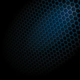Hexagon Grid. Metal Shine Hexagon Grid on Black Background. Vector Illustration Stock Photography