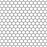 Hexagon Grid Cells Vector Seamless Pattern. Royalty Free Stock Photo