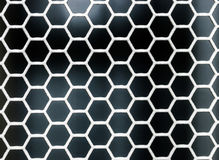Hexagon grid pattern Stock Images