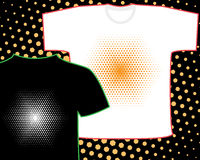 Hexagon halftone, the basis for any inscription or object on the t-shirt  other clothing. Vector. Hexagon halftone, the basis for any inscription or object on Stock Photos