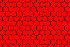 Hexagon. Pattern on red background vector illustration