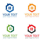 Hexagon Home Logo Design Template royalty free stock photos