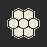 Hexagon icon Stock Images