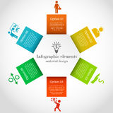 Hexagon infographic elements Stock Images