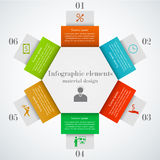 Hexagon infographic elements Stock Photos