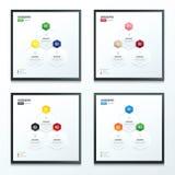 Hexagon infographic reeks Stock Fotografie