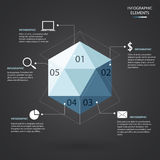 Hexagon Infographic Stock Photo