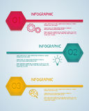 Hexagon infographic template. Can be used for workflow layout, diagram web design, infographics. Royalty Free Stock Photography