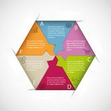 Hexagon infographic template Royalty Free Stock Photography