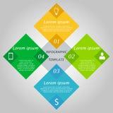 Hexagon infographicsconcept Royalty-vrije Stock Fotografie