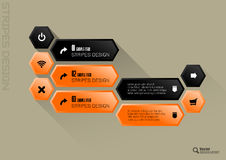 Hexagon Interface Stock Image