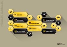 Hexagon Interface Stock Photo