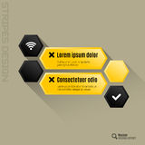 Hexagon Interface Royalty Free Stock Photo