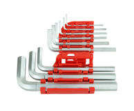 Hexagon kit tool or allen wrench set Stock Image