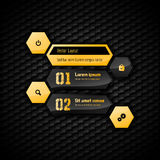 Hexagon Layout Royalty Free Stock Images
