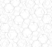 Hexagon line abstract and space art background vector illustration
