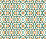 Hexagon linear pattern Royalty Free Stock Images