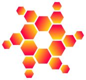 Hexagon logo Stock Photography