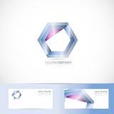 Hexagon logo Stock Photos