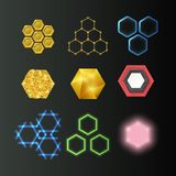 Hexagon design geometric elements honeycombs abstract geometric modern business technologies vector illustration. vector illustration