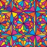Hexagon maak tot ster kleurrijk naadloos patroon stock illustratie