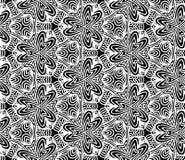 Hexagon mandalapatroon Kleurend boek Stammen hexagon mandaladruk uit de vrije hand Etnische hexagon mandaladruk voor t-shirt Vrij Stock Foto