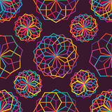 Hexagon many line colorful seamless pattern Stock Photo