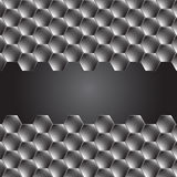 Hexagon metal background with light reflection Stock Photography