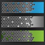 Hexagon Metal Banner. Royalty Free Stock Photos