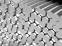 Hexagon metal bars stock illustration