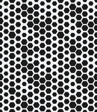 Hexagon monochrome seamless geometrical pattern. Vector illustration. eps 8 Royalty Free Stock Image