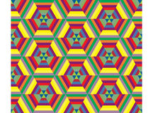 Hexagon mosaic seamless pattern Royalty Free Stock Image