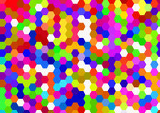 Hexagon multicolored cells backgrounds Stock Images