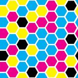 Hexagon naadloos patroon royalty-vrije illustratie