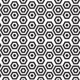 Hexagon naadloos patroon Stock Afbeeldingen