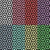 Hexagon naadloos patroon Royalty-vrije Stock Foto's
