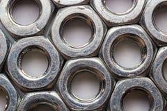 Hexagon nut Stock Photos