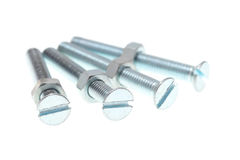 Hexagon nuts and screws Stock Photo