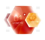 Hexagon option infographics. Vector universal design template stock illustration
