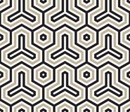 Hexagon. Original minimal sophisticated japanese modern traditional entangled stripspattern royalty free illustration