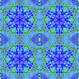 Hexagon ornamenten purpere blauwgroene naadloos Royalty-vrije Stock Foto
