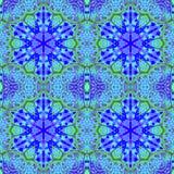 Hexagon ornaments purple blue green seamless Royalty Free Stock Photo